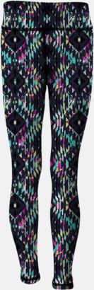 Charcoal (Grey)/Bright Aztec (barn) Tvåsidiga leggings med reklamtryck