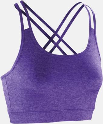 Lavender Sport-BH:ar med annorlunda rygg - med reklamtryck