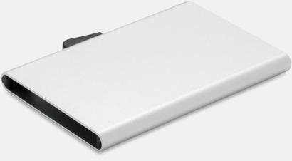 Silver RFID-säkra korthållare med reklamtryck