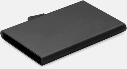 Svart RFID-säkra korthållare med reklamtryck