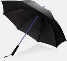 Paraply med lysande skaft med reklamtryck