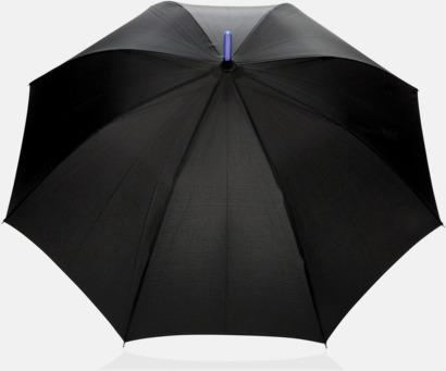 Svart Paraply med lysande skaft med reklamtryck