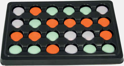 Liten chokladkalender med Fazers amerikanska linser