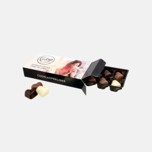 Chokladhjärtan i ask med tryck