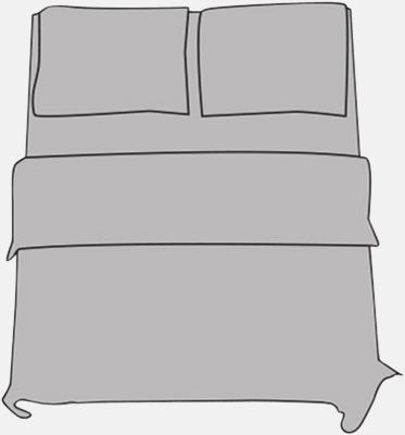Ljusgrå Örngott i 2 storlekar med reklamtryck