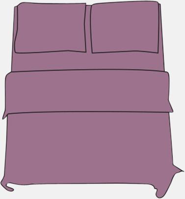 Light Violet Örngott i 2 storlekar med reklamtryck