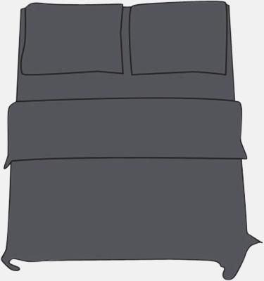 Shale Taupe Örngott i 2 storlekar med reklamtryck