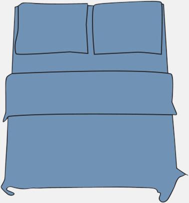 Soft Blue Örngott i 2 storlekar med reklamtryck