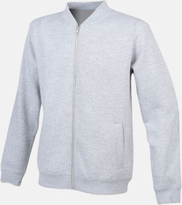 Heather Grey Unisex bomberjackor med reklamtryck