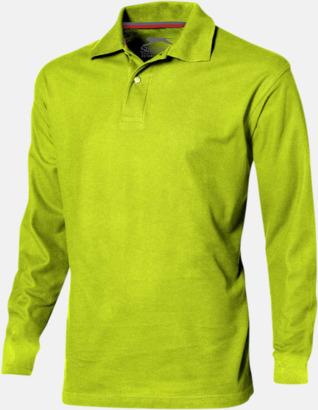 Apple (herr) Långärmade pikétröjor från Slazenger med reklamtryck