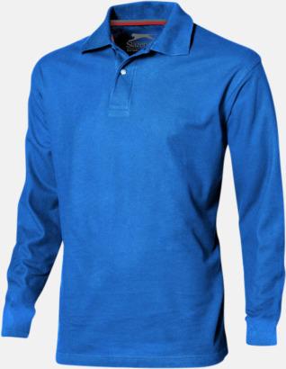 Sky (herr) Långärmade pikétröjor från Slazenger med reklamtryck