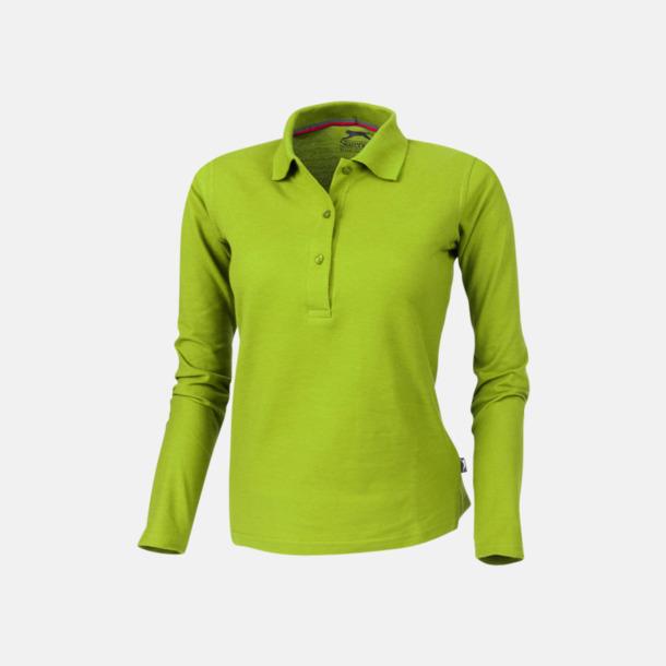 Apple (dam) Långärmade pikétröjor från Slazenger med reklamtryck