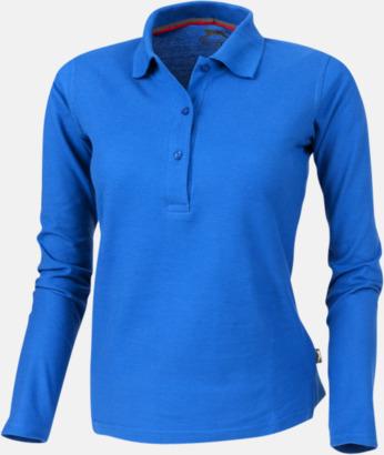 Sky (dam) Långärmade pikétröjor från Slazenger med reklamtryck