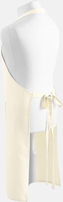 Natural Förkläde i Fairtrade Bomull med ficka på framsidan