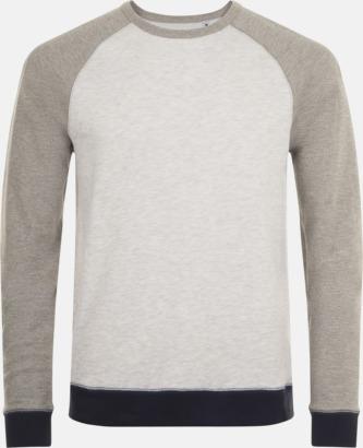 Ash (Heather)/Grey Melange Unisextröjor i 3 färger med reklamtryck