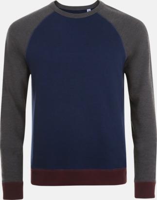 French Navy/Charcoal Melange Unisextröjor i 3 färger med reklamtryck