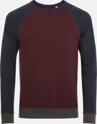 Oxblood/French Navy Unisextröjor i 3 färger med reklamtryck