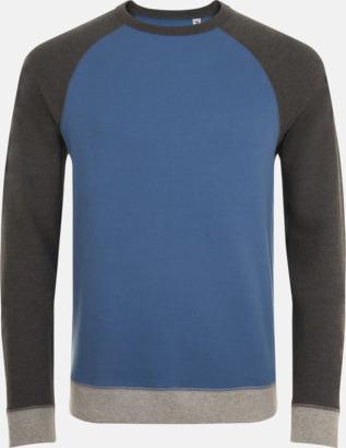 Slate Blue/Charocal Melange Unisextröjor i 3 färger med reklamtryck