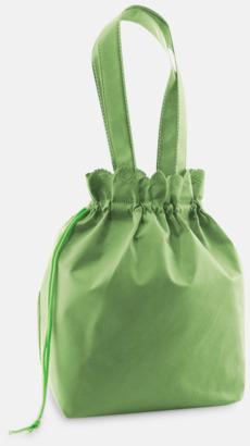 Grön Tygpåsar med dragsko - med reklamtryck
