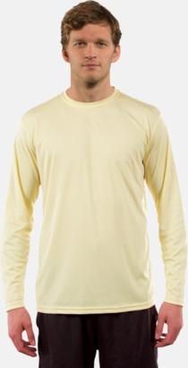 Pale Yellow (herr) Långärmad funktionströja i PURE tech tyg