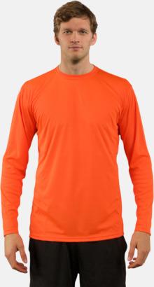 Orange (herr) Långärmad funktionströja i PURE tech tyg