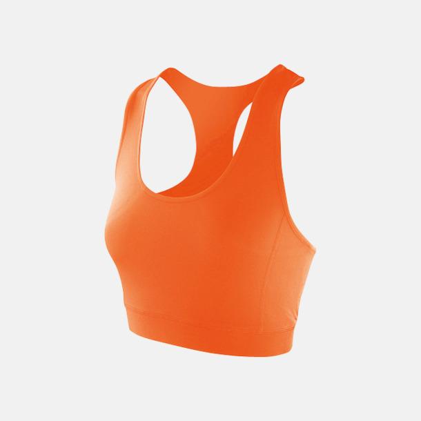 Tangerine Racer back BH:ar med reklamtryck