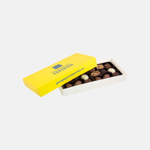 / CMYK-tryck Chokladpraliner i ask med eget reklamtryck