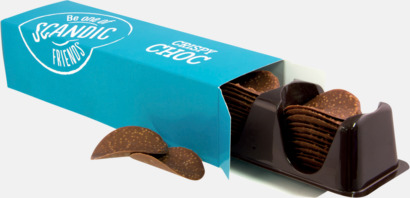 Chokladplattor med krisp i ask med eget tryck