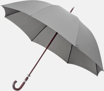 Ljusgrå (PMS 445C)  Stormsäkra Paraplyer med tryck