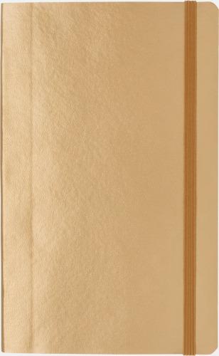 Guld Linjerad A5 notebook i konstläder