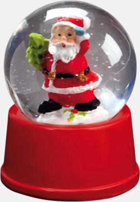 Röd Julglober med reklamtryck