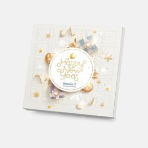 Adventskalender med Ritter sport choklad - med reklamtryck