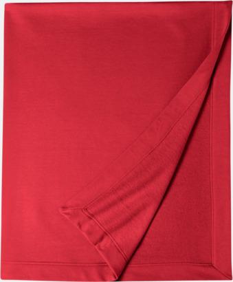 Röd Utefiltar med reklamlogo