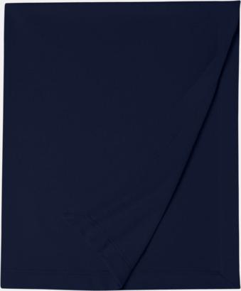 Marinblå Utefiltar med reklamlogo