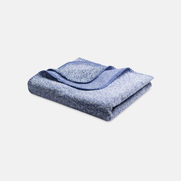 Blå Spräckliga filtar med reklamlogo