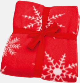 Julmönstrade fleecefiltar med egen logo