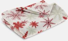 Julmönstrade filtar i fodral med reklamtryck