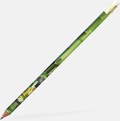 Mörkgrön (med sudd) Ekologiska Bic-pennor med reklamtryck