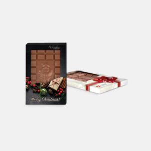 Chokladkaka med 24 rutor i förpackning med chokladtryck
