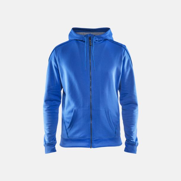 Sweden Blue Tränings huvtröjor med dragkedja med reklamtryck