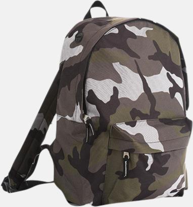 Camouflage Billiga ryggsäckar med ege tryck