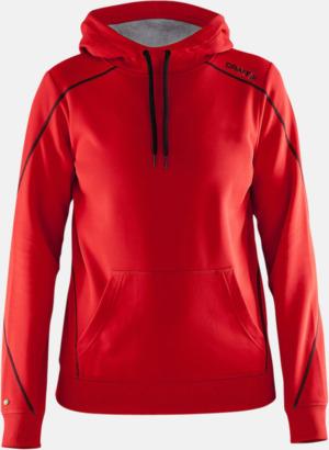 Bright Red (dam) Herr- och damtröjor från Craft av funktionsmaterial med reklamtryck