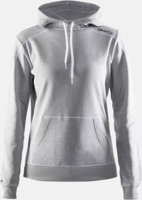 Grey Melange 3950 (dam) Herr- och damtröjor från Craft av funktionsmaterial med reklamtryck