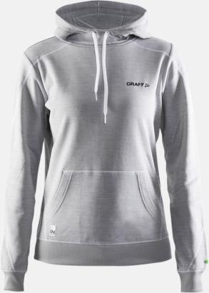 Grey Melange 2950 (dam) Herr- och damtröjor från Craft av funktionsmaterial med reklamtryck