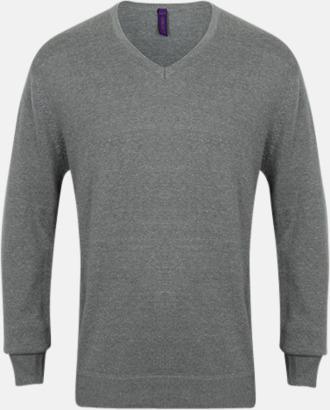 Slate Grey (herr) V-neck jumper i herr- & dammodell med reklamtryck