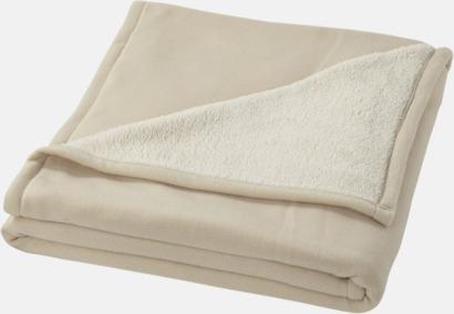 Naturvit Filt i fleece- & sherpamix med reklamlogo