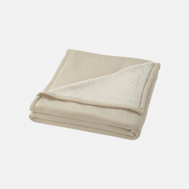 Off-White Filt i fleece- & sherpamix med reklamlogo