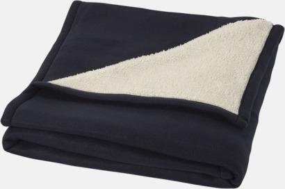 Marinblå Filt i fleece- & sherpamix med reklamlogo