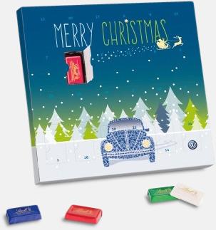 Lyxiga chokladkalendrar med Lindtchoklad - med reklamtryck