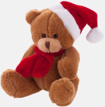 Brun Julklädda teddybjörnar med reklamtryck